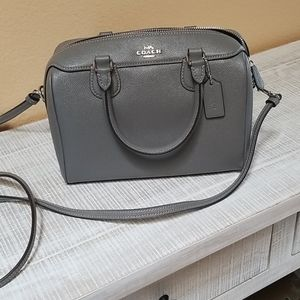 Ladies gray handbag